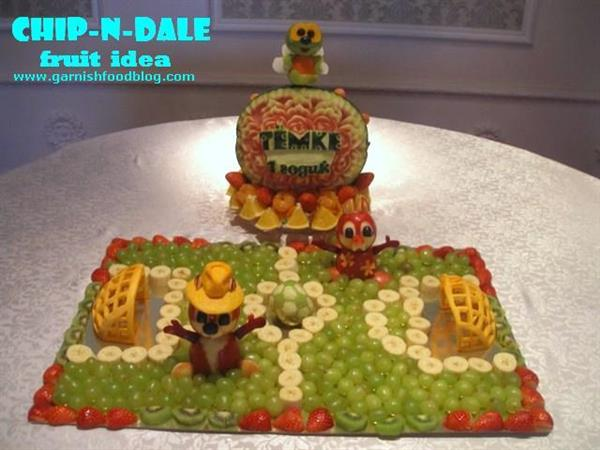 Chip and Dale Fruit Display