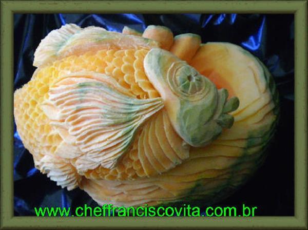 Fish Pumpkin Carving by Chef Francisco Vita