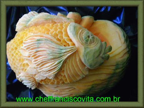 Fish Pumpkin Carving by Chef Francisco Vita