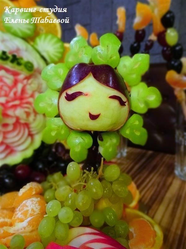 Flower Girl made of apples