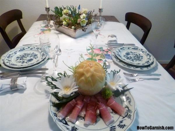 Meloen en prei