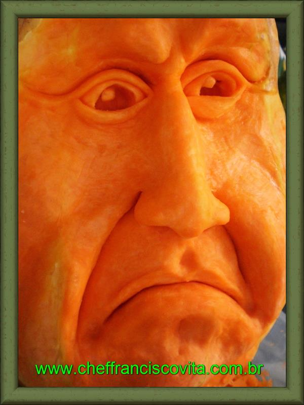 Human Pumpkin Face