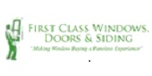 Website for First Class Windows, Doors & Siding