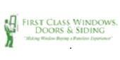 Website for First Class Windows, Doors & Siding