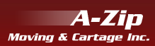 Website for A Zip Moving and Cartage