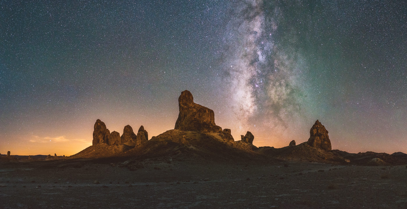 Trona Pinnacles and the Milky Way