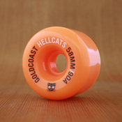 GoldCoast Hellcats 58mm 90a Orange Wheels