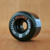 GoldCoast Hellcats 58mm 90a Black Wheels