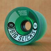 GoldCoast Big Slicks 75mm 78a Green Wheels