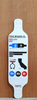"Madrid 39"" Infographics Longboard Deck"