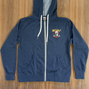 Bones Ripper Zip-Up Navy Heather Sweatshirt