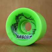 Arbor 72mm 78a Green Freeride Wheels