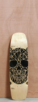 "GoldCoast 32"" Skull Graphic Longboard Deck"