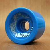 Arbor 72mm 78a Blue Freeride Wheels