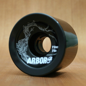 Arbor 72mm 78a Black Freeride Wheels