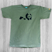 Enjoi Panda Military Green T-shirt