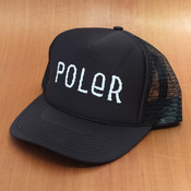 Poler Trucker Mesh Furry Font Black Hat