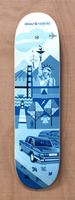 "Habitat Cross Continental Blue 8.0"" Skateboard Deck"