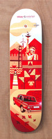 Habitat Cross Continental Red 8.25 Skateboard Deck