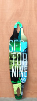 Sector 9 38&quot; Drifter II Blue Longboard Deck