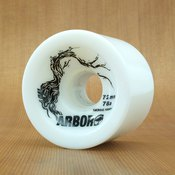 Arbor 72mm 78a White Freeride Wheels