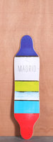 Madrid 36&quot; Paint Stripes Longboard Deck
