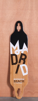 Madrid 38.25&quot; Dipped Bamboo Longboard Deck
