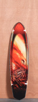 "Gravity 37"" Red Tide Longboard Deck"