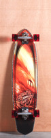 "Gravity 37"" Red Tide Longboard Complete"