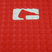 "Globe Red 12""x10"" Tail Pad Grip"