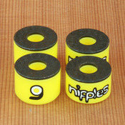 Orangatang Nipples Double Barrel Hard Yellow Bushings