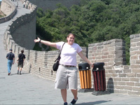 Elisa Marchetti at the Great Wall of China