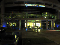 Medtronic Diabetes building lit blue for WDD