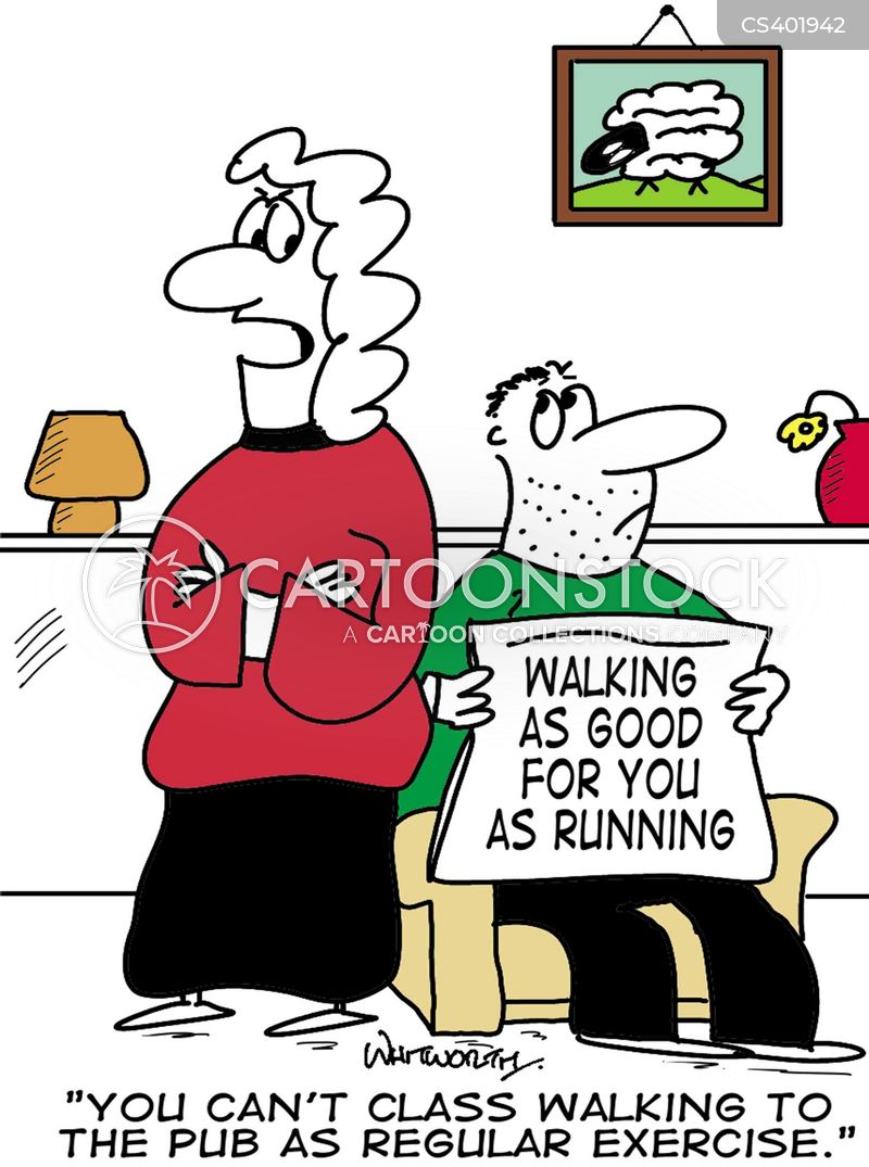 Exercise News and Political Cartoons