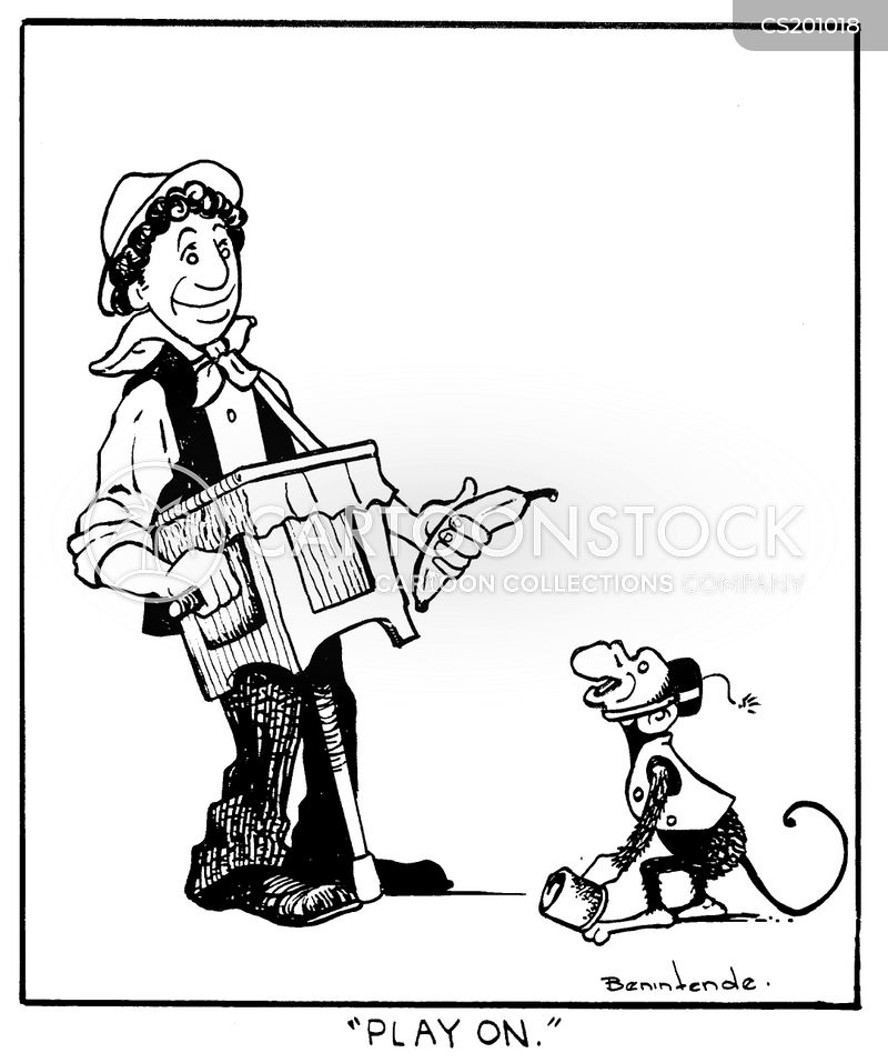 organ grinder cartoons and comics
