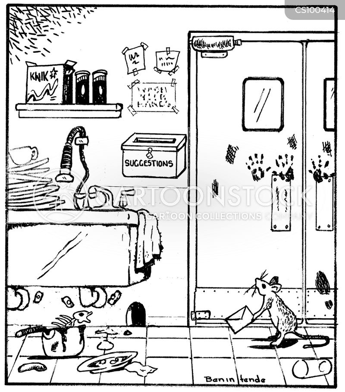 Messy Restaurant Kitchen: Kitchen Hygiene Cartoons And Comics
