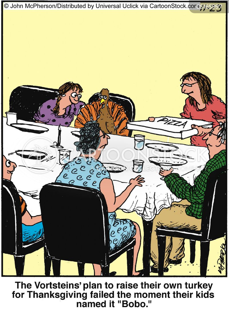 Turkey dinner pictures cartoons