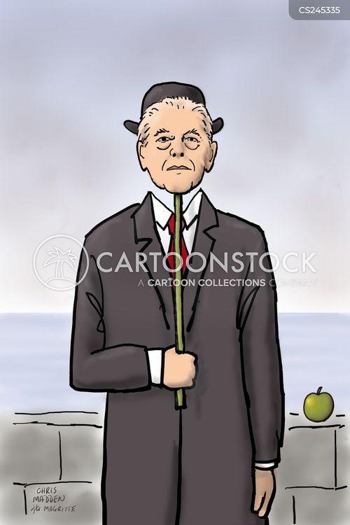 Invisible man cartoon