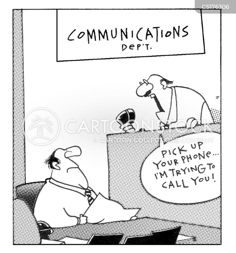 Communications Departments Cartoons And Comics Funny