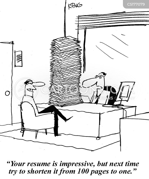 impressive resume cartoons and comics