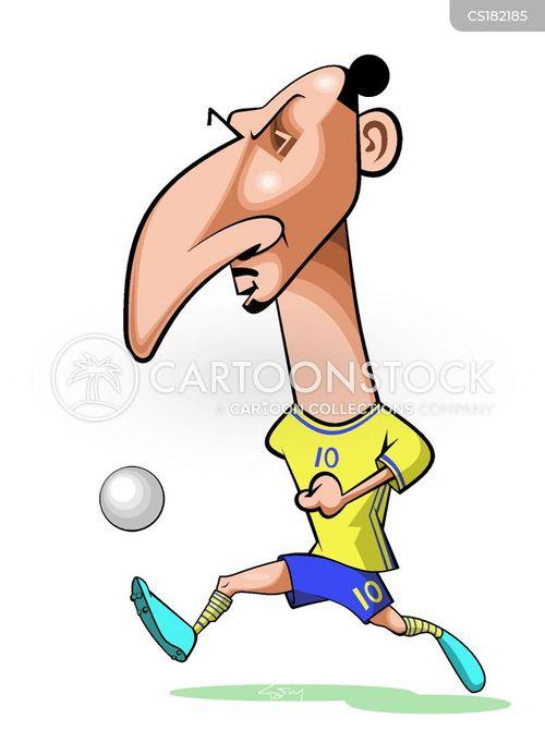 Soccer Player Cartoons and Comics