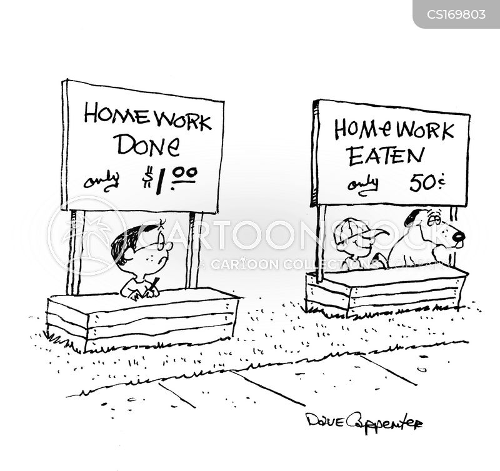 Dog Eats Money Cartoon