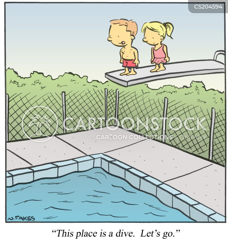 Outdoor pool cartoons and comics funny pictures from - Swimming pool diving board regulations ...