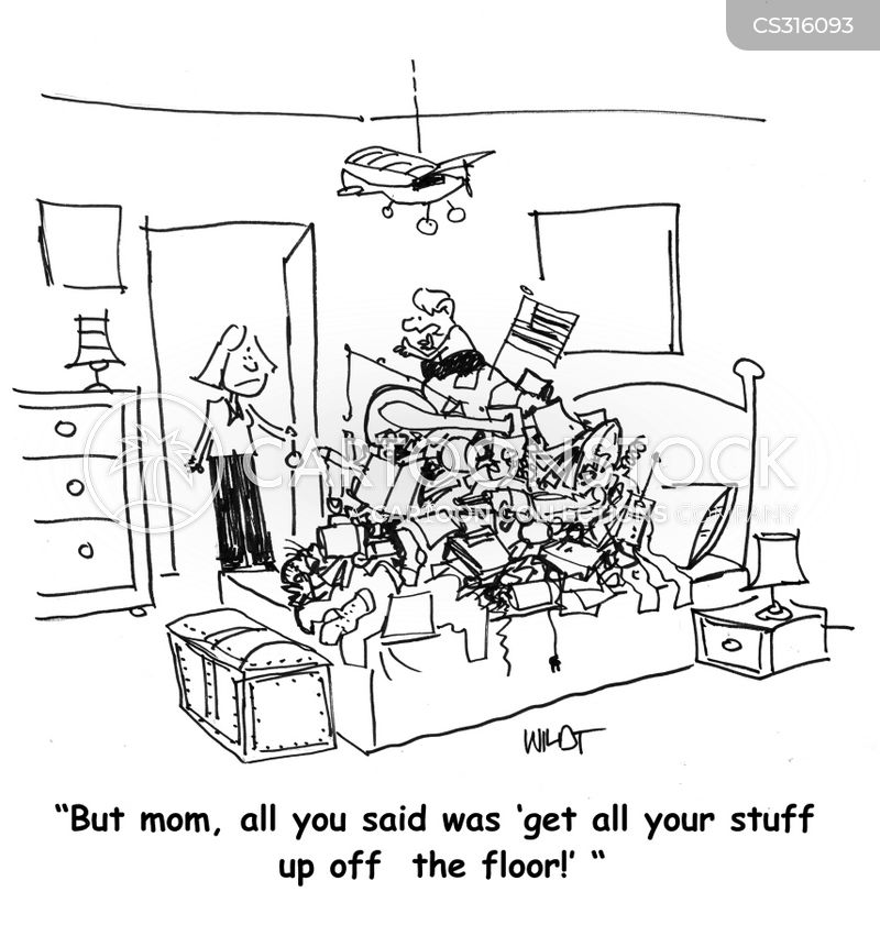 Messy Bedroom Cartoons And Comics Funny Pictures From Cartoonstock