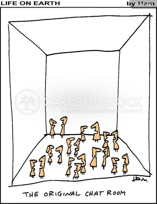 cartoon chat room