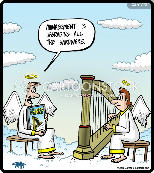 Music Harp Cartoons and Comics