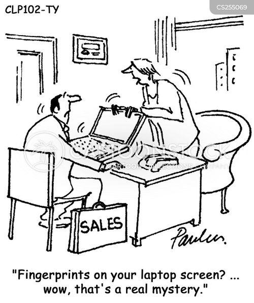laptop screen cartoons and comics