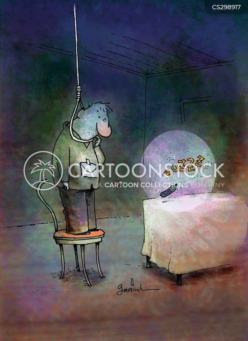 Hang Yourself Cartoons and Comics - funny pictures from ... Suicide Hanging Cartoon