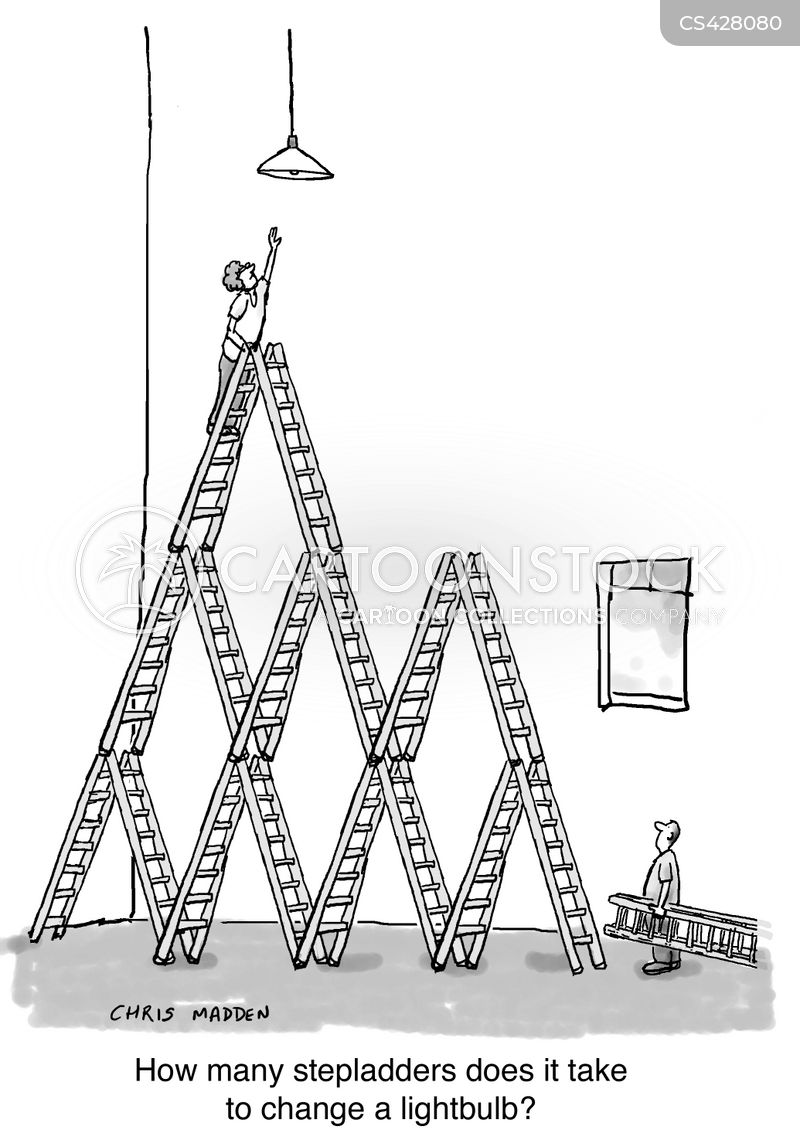 Step Ladder Cartoons And Comics Funny Pictures From