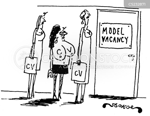 model cv cartoons and comics